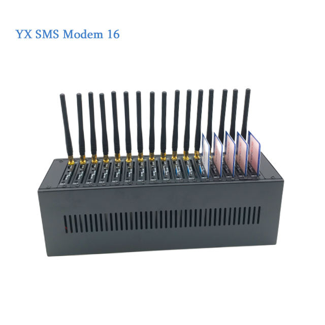 Wireless Network Equitpment 16 Port GSM Modem With AT Command SMS Sender GSM Modem