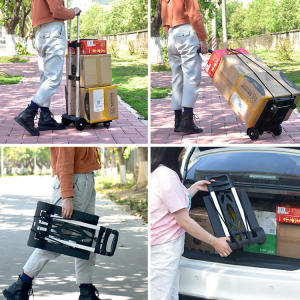 Folding metal hand truck luggage cart with high quality