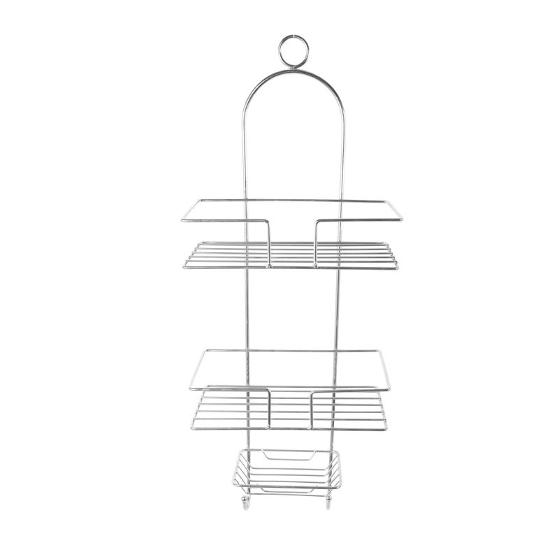 Bathroom Hanging Rack Shampoo Storage Shower Caddy Shelf With Towel Hook And Soap Dish