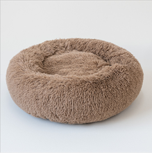 Amazon Winter Dogs Bedding Blanket Soft  Plush Large Cozy Cat Sleeping Donut Round Calming Dog Bed For Pet