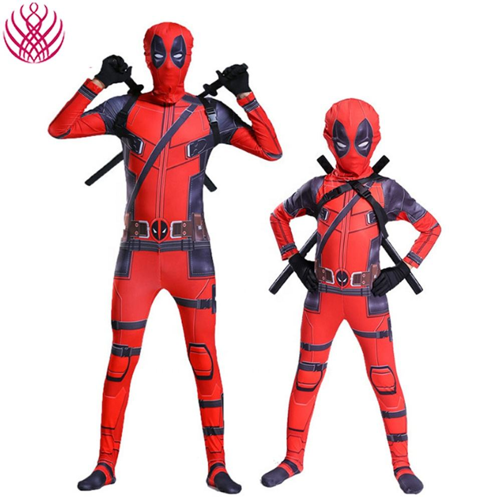 kids Dead pool 2 Cosplay Costume Children Halloween Christmas party Costume Set