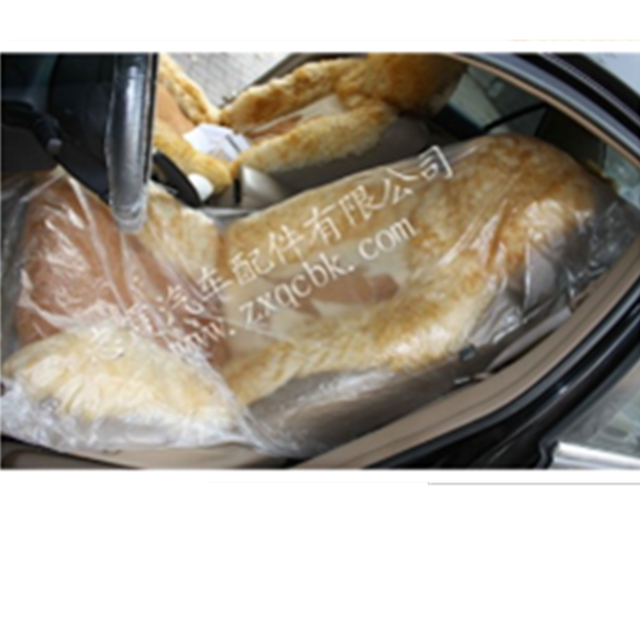 China manufacturer plastic pe disposable seat cover steering cover brown foot mat paper 5 in 1