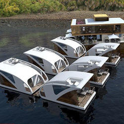 Mini couple use water floating houseboat drive boathouse des
