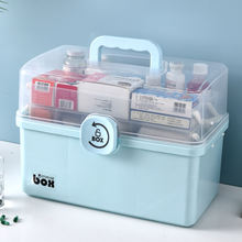 High capacity plastic medicine chest storage boxes outdoor portable medical box at home