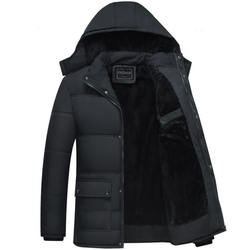 Black Winter Jacket Men Thick Parkas Casual Jackets Windproo