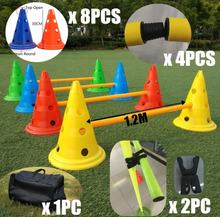 Amazon hot sell training marker football soccer sports training cones flexible hurdles agility cones kit with carry bag