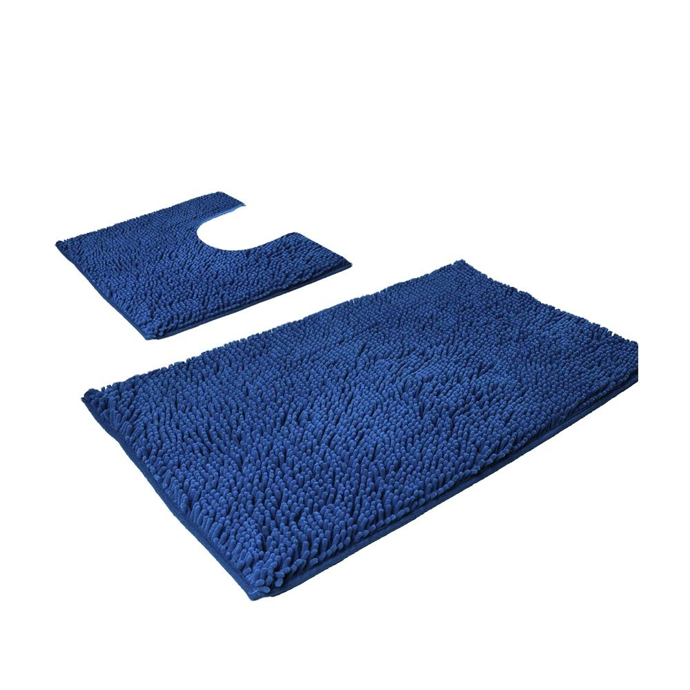 washable nonslip microfiber san remo chenille bath rug and mats