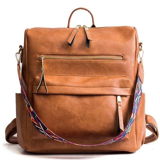 Wholesale Leather Backpack Women 2019 Students School Bags Large Backpacks Multifunction Travel Bags