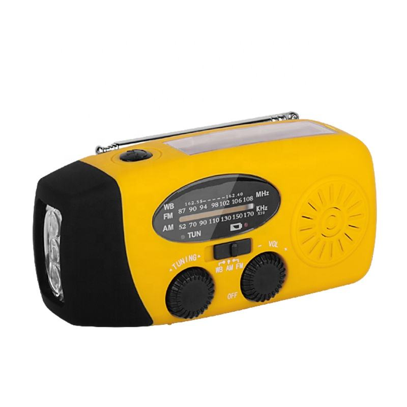 Home System Camping Light Storm Receiver AM FM NOAA Hand Crank Powered Lantern with Solar Power Charger Weather FM Radio Iphone
