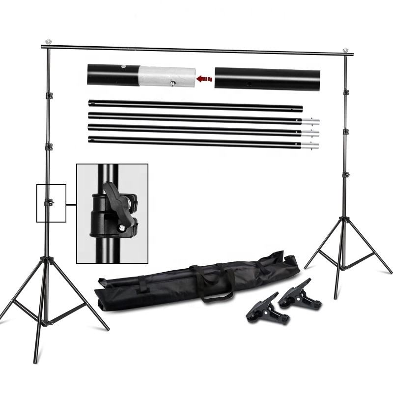 Photo Video Studio Shooting Equipment 2.6*3m Muslin Background Support Photography Backdrop Stand Background Support Holder