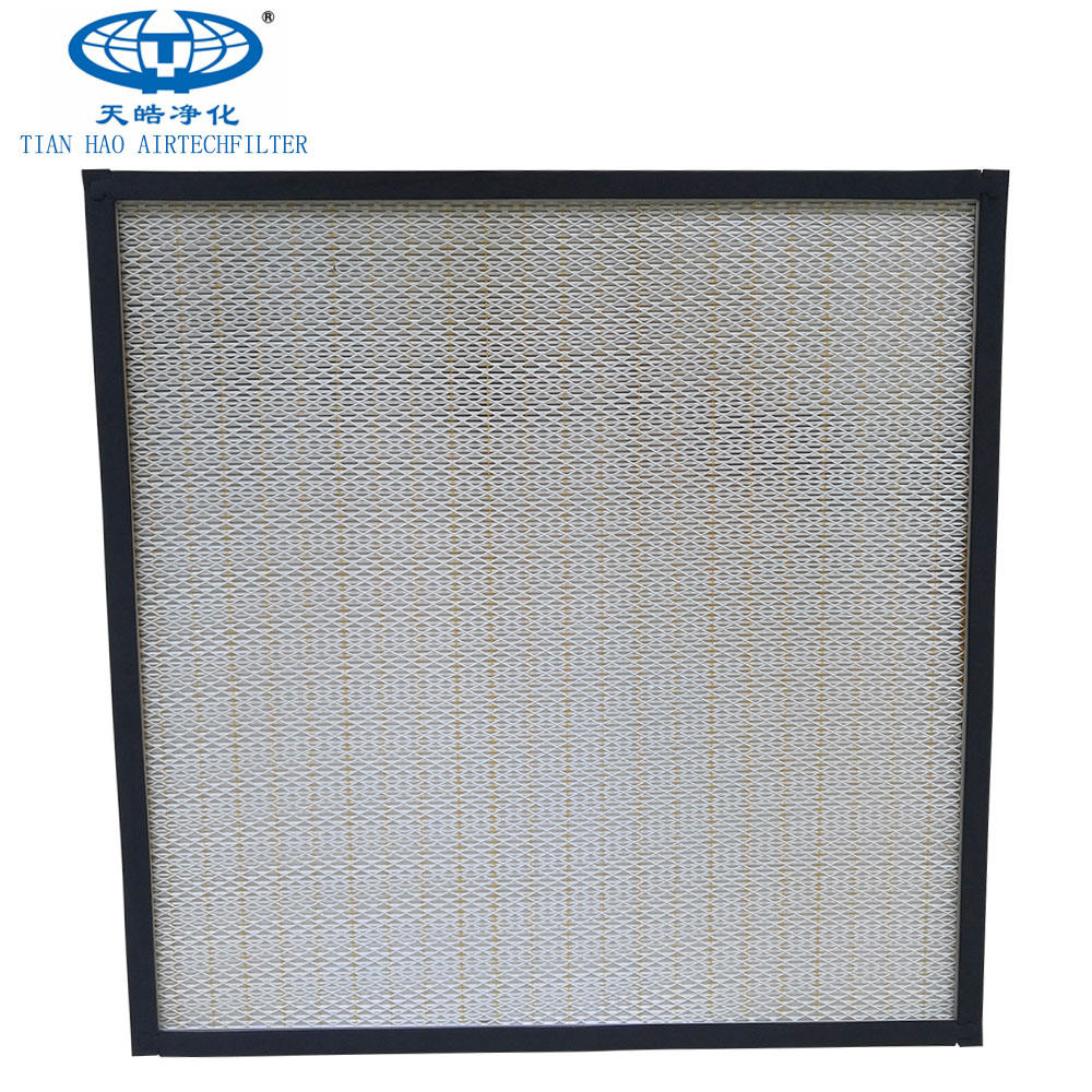 TianHao Pleated 99.99% Air Filter Paper h13 H14 hepa filter high efficiency filter