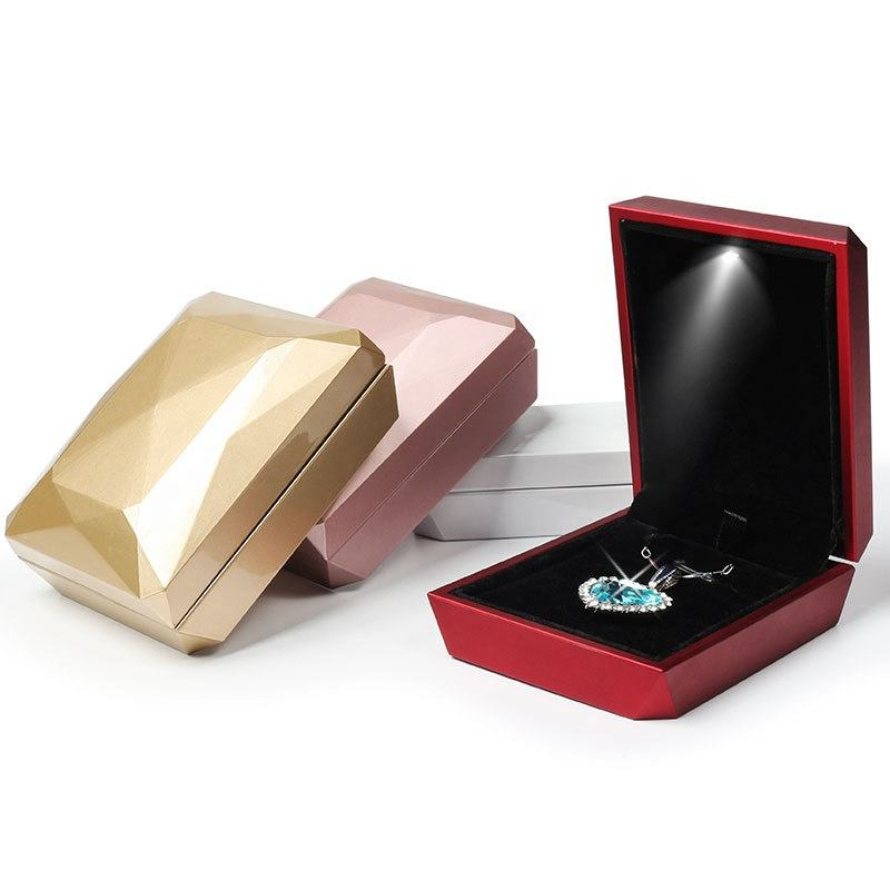 Wholesale best Selling high quality necklace box Led jewelry box jewelry packaging necklace gift box