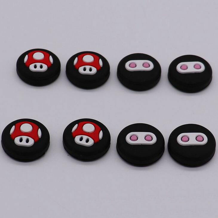 For Nintendo Switch Joystick Silicone Thumb Grips Stick Caps Controller Button Cover Accessories for Nintendo Switch for Joy-Con