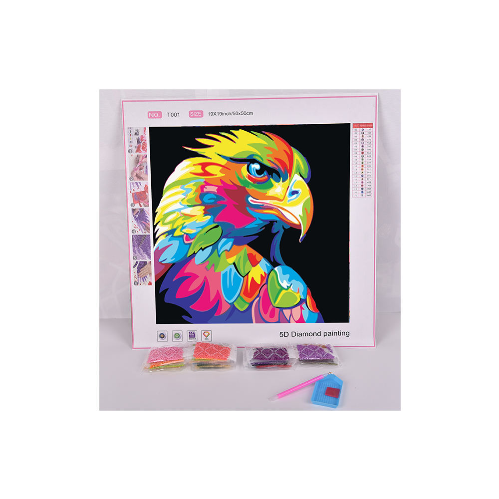 Wall hanging Colorful Animals sharp-eyed Eagles Picture Kits Diamond Painting on canvas