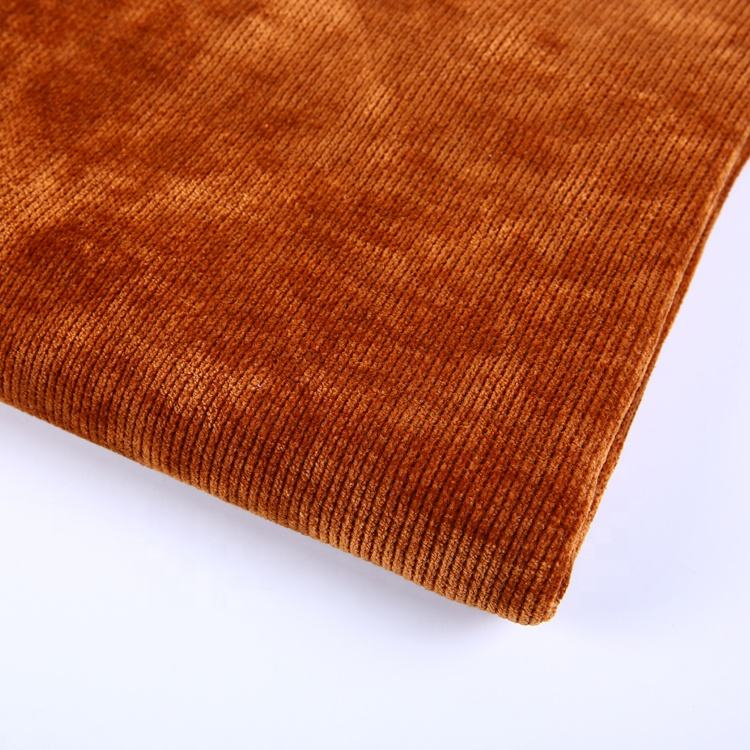 China supplier hacci knitted loose cotton polyester knitted fabric chenille