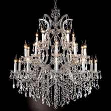Chrome finish clear crystal chandelier with chandelier certificate