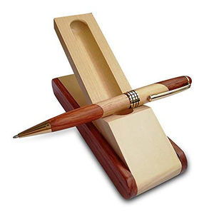 2020 Customized logo bamboo wood ball pen with nice wooden gift box for Business Office Writing