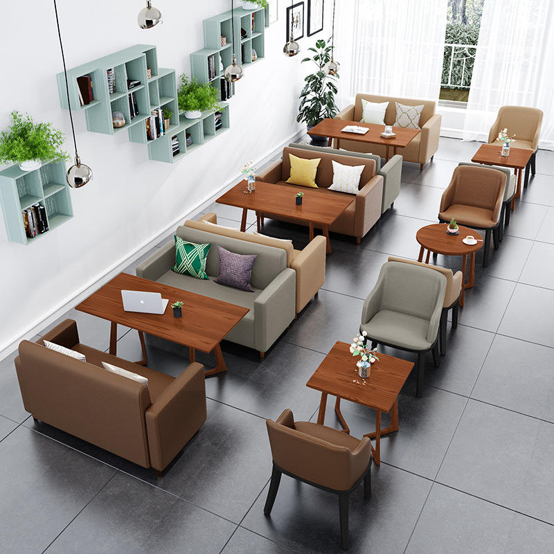 Classical Indoor Furniture Dining booth sofa seating sets dining restaurant table chairs