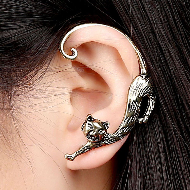 Wholesale Gothic Rock Punk Gothic Cat Metal Earring For Men Women Party Jewelry