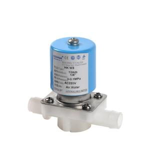 Food Grade 1 / 2 Pipe Inch Size Direct Acting Small Water Valve 12V Normally Closed Plastic Solenoid Valves For RO