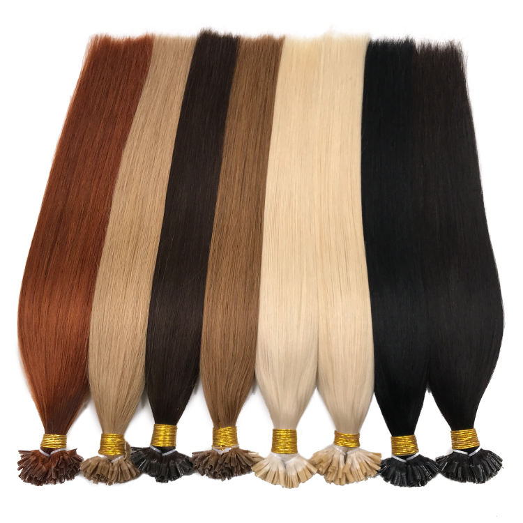 I/U/FLAT Tip Hair Extensiones De Cabello Natural European Hair Double Drawn Remy Hair Extension