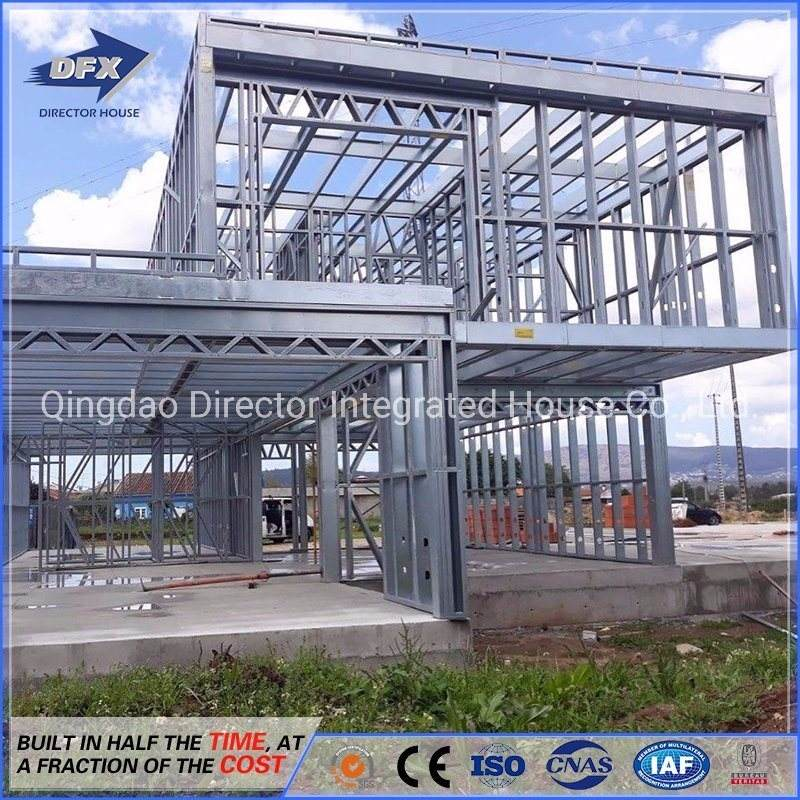 House Villa Best Design Hot Sale Steel Frame Prefab House Light Gauge Steel House Villa For Holiday House With CE Certificate