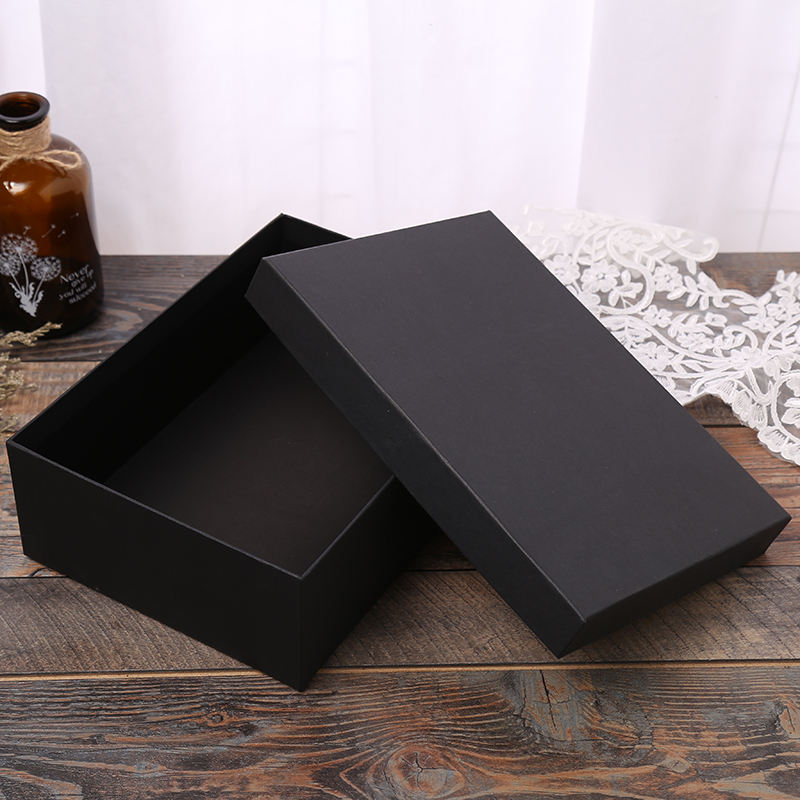 Wholesale Ready Stock Big Black Cardboard Gift Boxes in Various Sizes