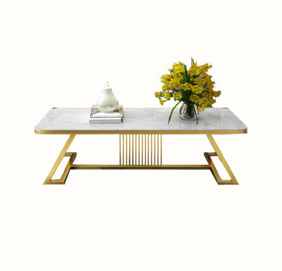 High Quality Industrial Metal Light Luxury Modern Minimalist Square Tea Table Foot