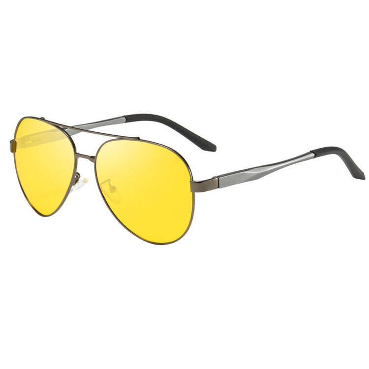 Fashion Night Vision Driving Glasses Yellow Lens Mens Polarized Car Sunglasses