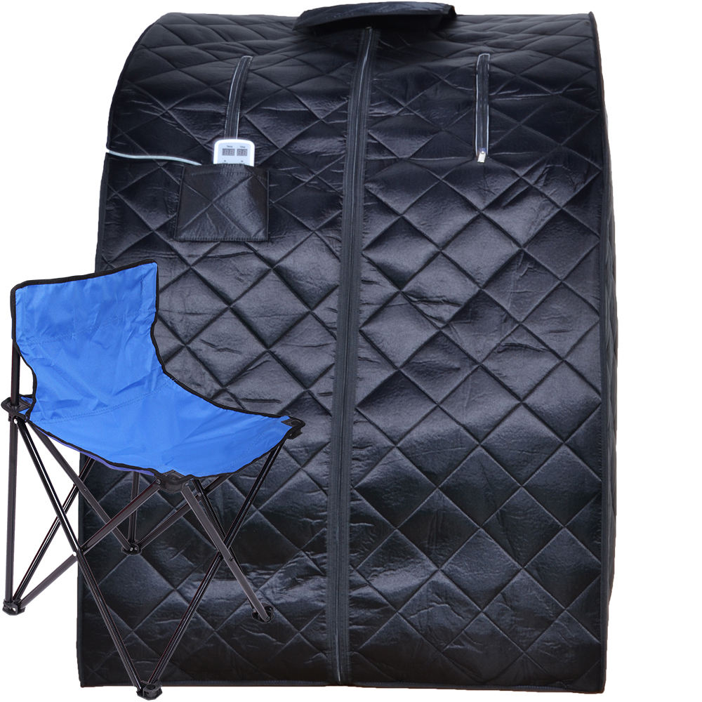 Portable Far Infrared Home Spa Sauna, Full Body Slimming Loss Weight, with Folding Chair portable infrared sauna