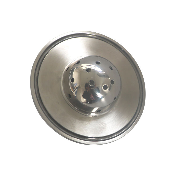 "Sanitary SS304 1.5"" tri clamp flat end cap lid with 1/4"" mnpt and spray ball"