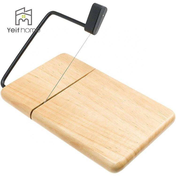 Wholesale Adjustable White Marble Bamboo Wood Wire Cheese Slicer