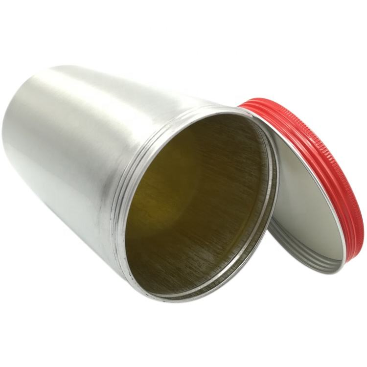 500ml empty epoxy phenolic yellow inner coating aluminum shampoo canister