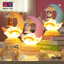 best selling touch switch cartoon moon table LED night lamp for kids