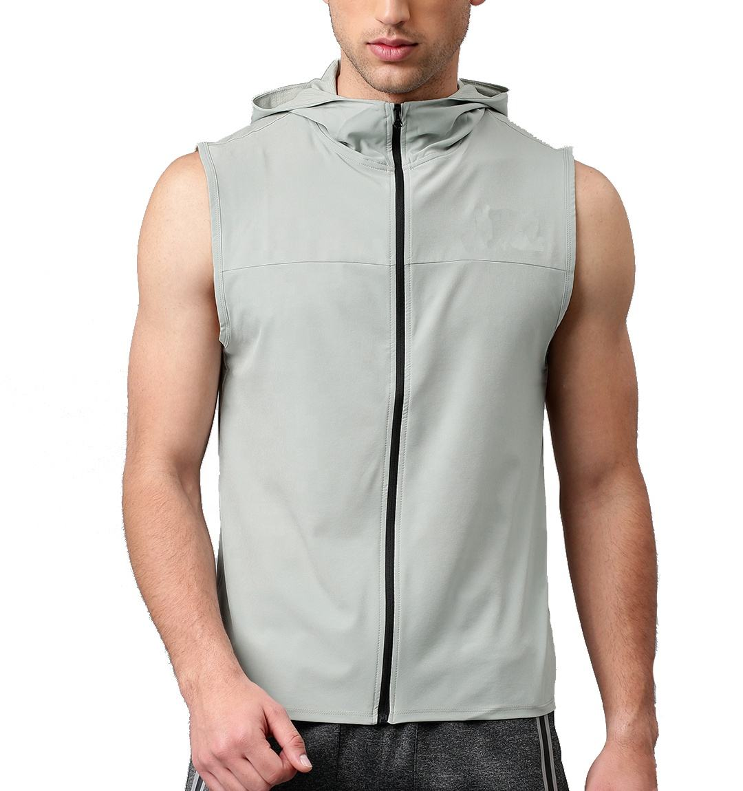 2020 Customized Quick Dry Zipper Up Jacket Summer Breathable Sleeveless Hoodie Jacket for Men
