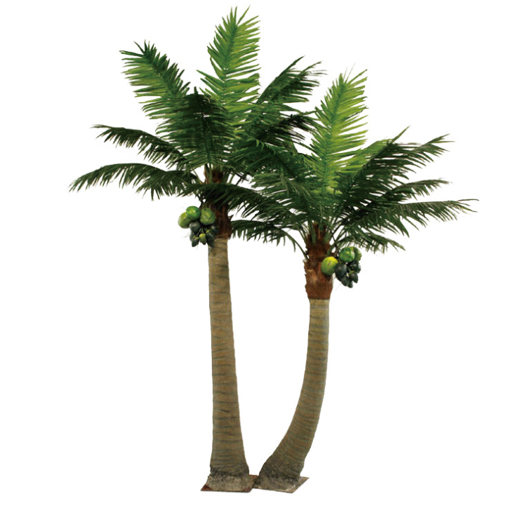 Good price artificial outdoor palm tree 3m coconut palm tree outdoor artificial evergreen plant 3m palm trees