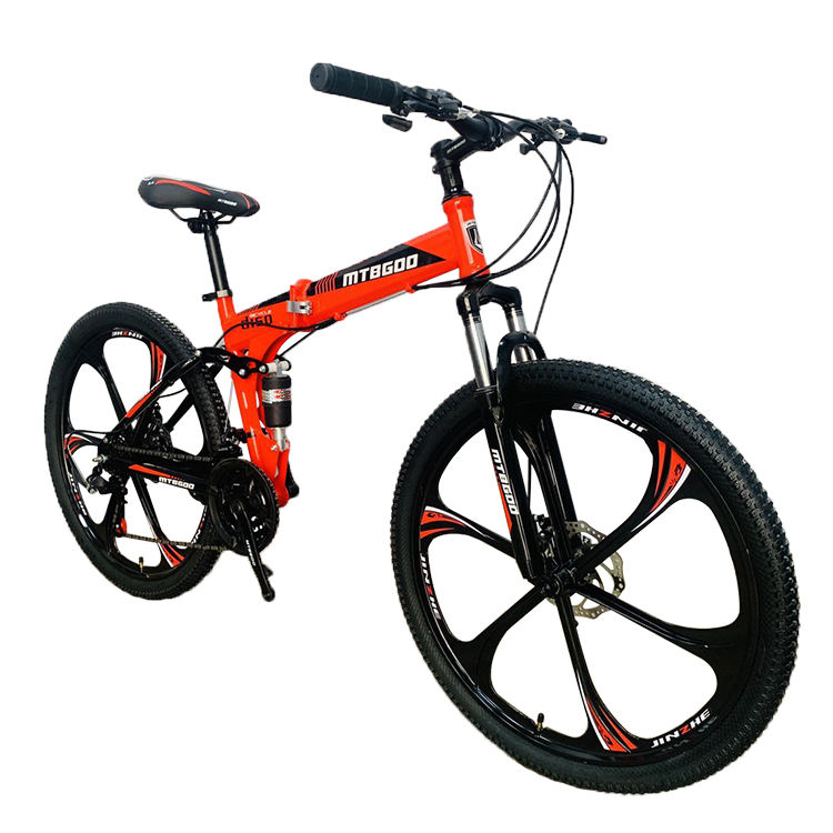 Chinese Sport Dirt bikes mountain bicycle/26 Inch Mountain Bike 6 blade Wheel/ 21 speed Folding Bicycle High Carbon Steel MTB