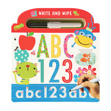 A4 children  book printing / Dry Erase Children learning Book With Pen