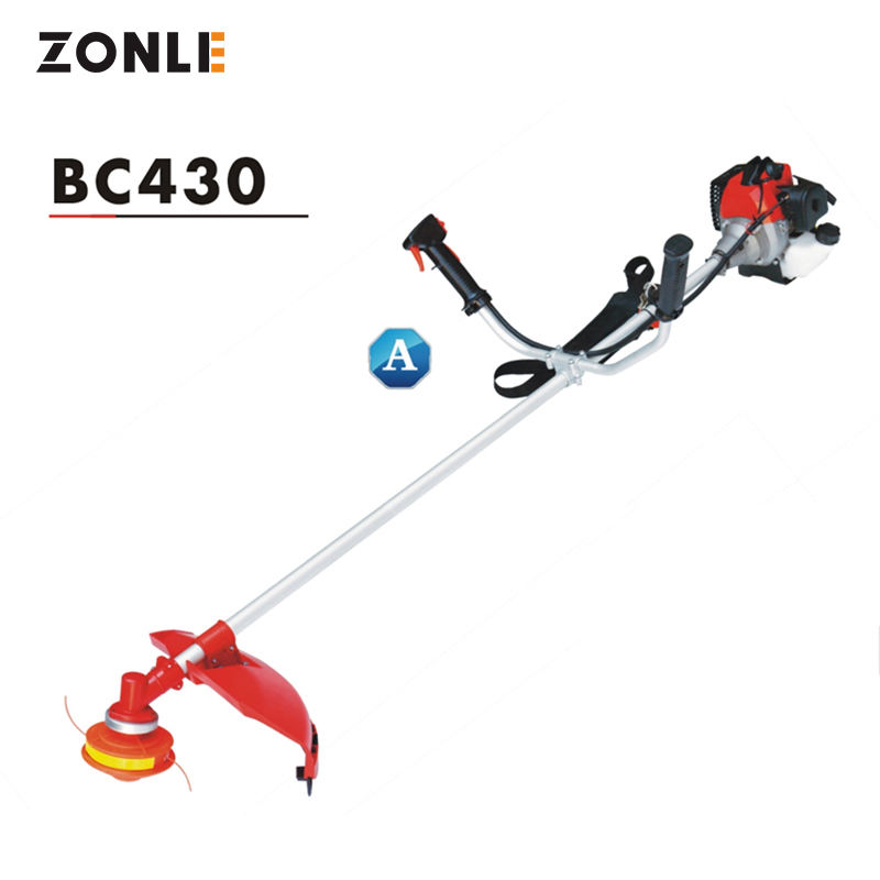Light hand push 43cc brush cutter grass cutter and trimmer with CE