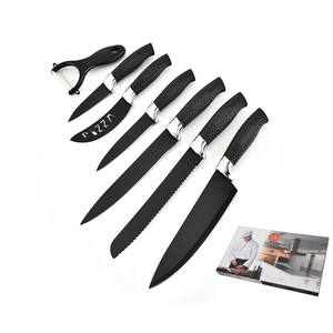 Hot selling 7pcs stainless steel non-stick coating kitchen knife set