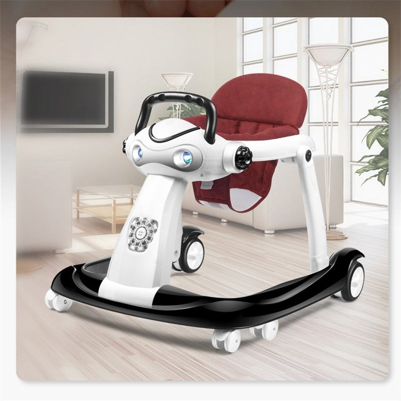 Pusher 3 in 1 Baby Walker Ride on Car Music Toy Toddler Round Activity Assistant Unique Baby Walker
