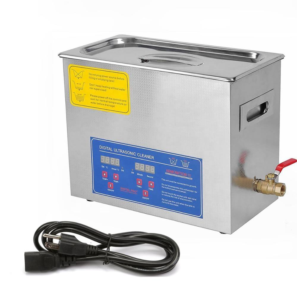Professional 6L Ultrasonic Cleaner Cleaning 10 Transducers Brushed Tank Dental Medical