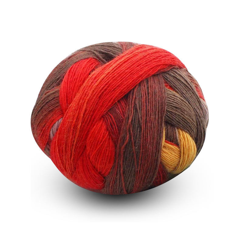 LENUO Wholesale cheap price customized colors merino wool yarn 100g/ball for knitting shawl