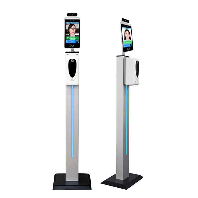 "8"" Wall Mount Floor Stand Facial Recognition Attendance System with Sensor with Hand Wash Dispenser"