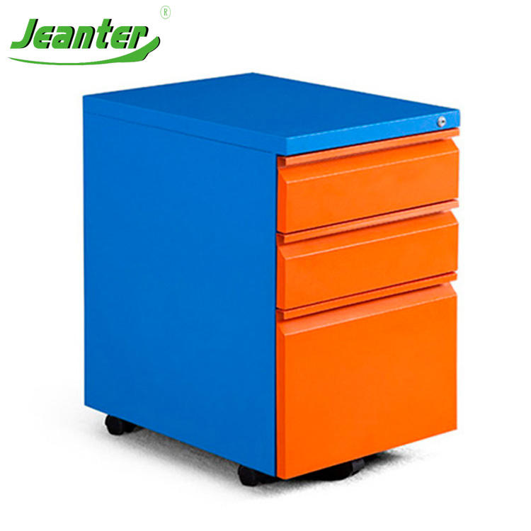 orange file cabinet index card file drawer