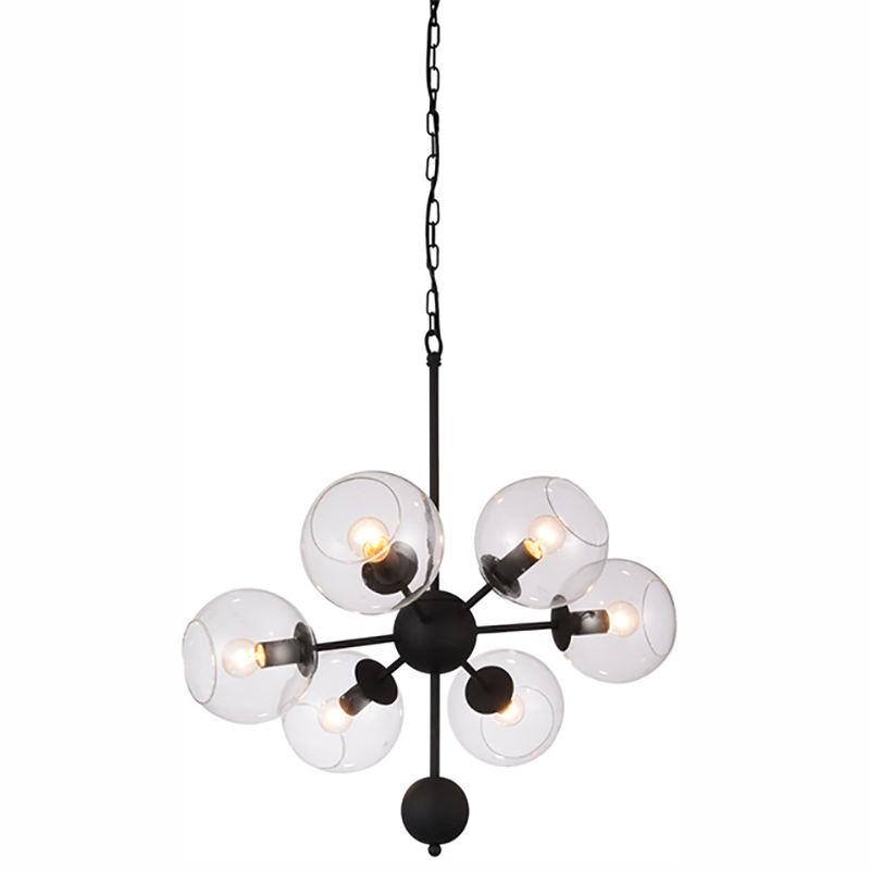 Moderno in metallo soffitta tipo trasparente camino di <span class=keywords><strong>vetro</strong></span> 6 supporto della lampada lampada a sospensione
