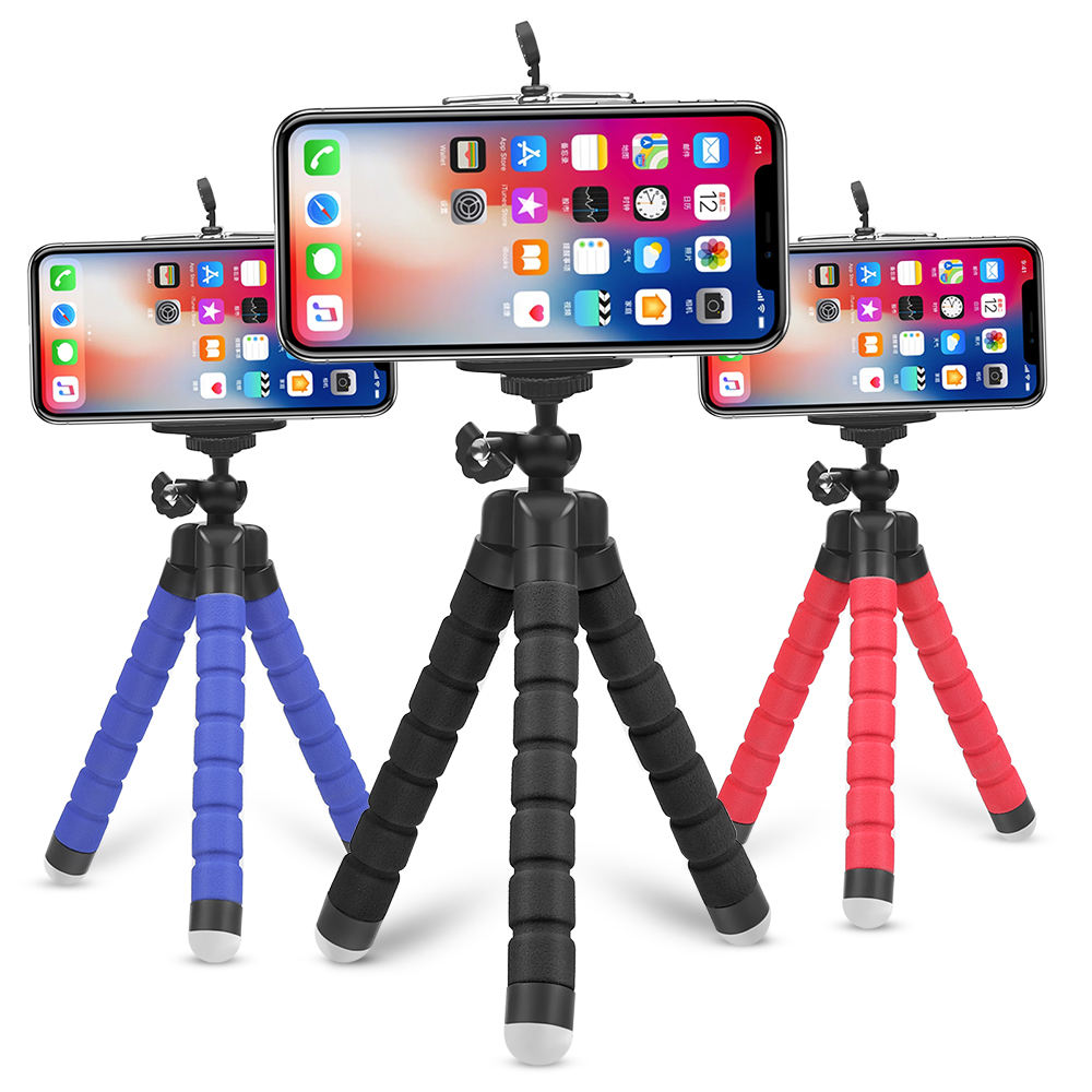 Factory Sale Mini Flexible Sponge Octopus Tripod for iPhone/samsung/Huaweis Mobile Phone Smartphone holder for Gopros Camera