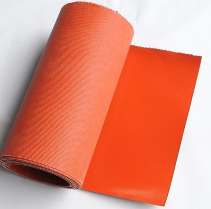 Heat Resistance Double-sided Silicone Rubber Coated Fiberglass Fire Proof Fabric