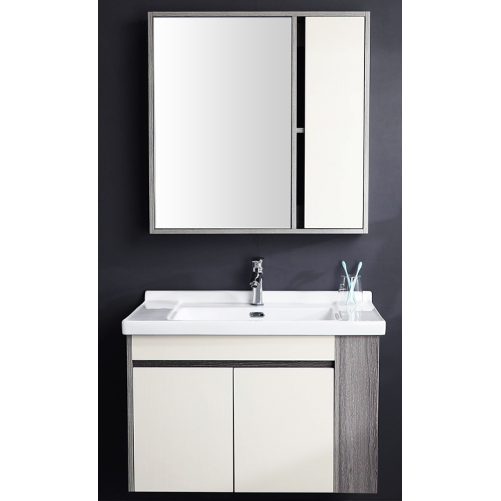 Floor standing 304 stainless steel bathroom cabinet with single basin