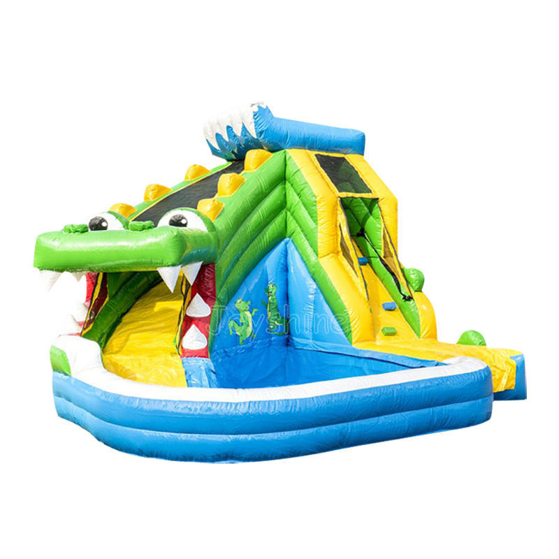 Inflatable Slide For Kids Large Crocodile Water Slides For Kids Inflatable Water Slide Bounce House Jumper With Pool